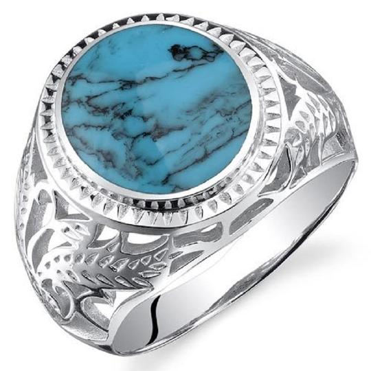 Silver Mens Turquoise Ring Tradesy