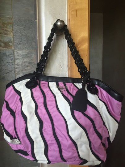 Prada Tote in Pink and white