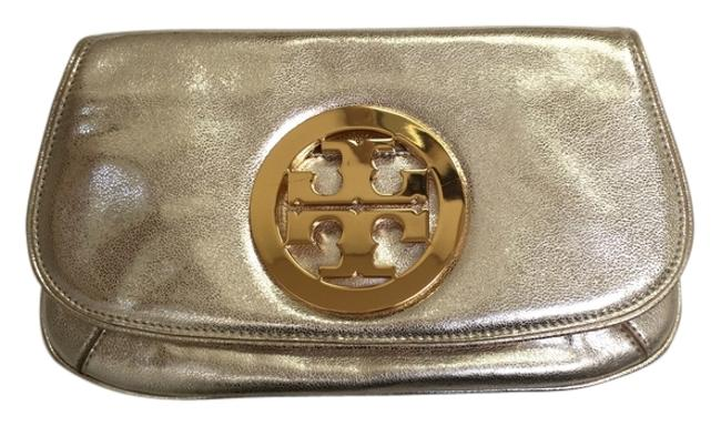 Item - Style Number 50009805 Gold Metallic Leather Clutch