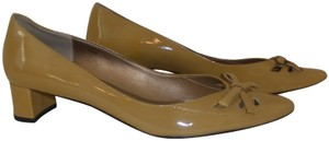 Vaneli Patent Leather Beige Pumps