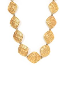 Chanel Chanel Textured Gold Diamond-Shape Medallion Belt/Necklace