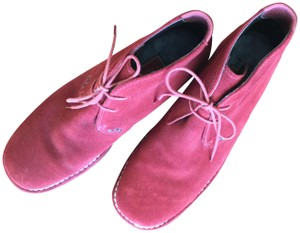 Cole Haan Suede Waterproof Lace Up Red Boots