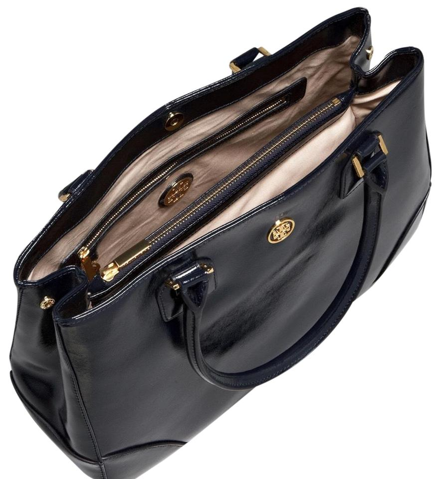 0b6733f32b6a Tory Burch Robinson East-west Black Patent Leather Tote - Tradesy