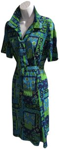 Peter Kaiser short dress green/multicolor on Tradesy