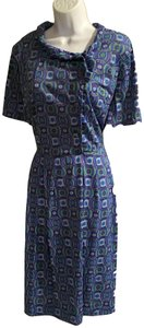 Peter Kaiser short dress blue/multicolor on Tradesy