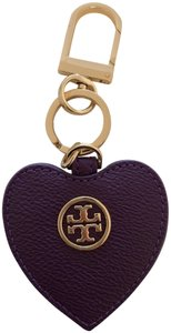 Tory Burch Tory Burch Pebbled Leather Heart Key Fob
