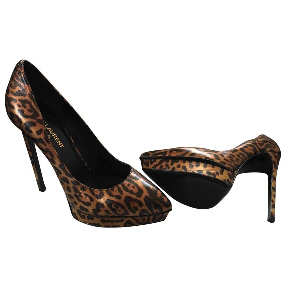 ae2d8409559 Saint Laurent Ysl Janis 105 Double Leopard Pumps. Size  US 7.5 Regular (M  ...
