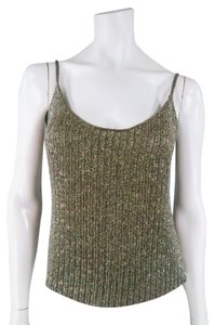 Ralph Lauren Beaded Sequin Sparkle Evening Spaghettistrap Top