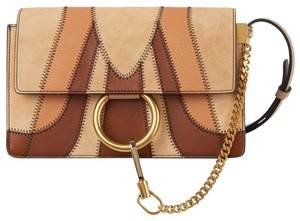 Chloé Faye Crossbody Suede Patchwork Shoulder Bag