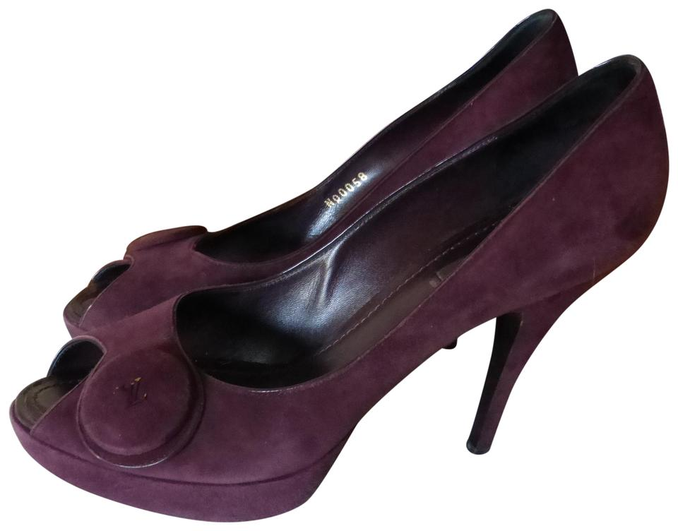 483af5faa3 Louis Vuitton Burgundy - Italy Pumps Size EU 39 (Approx. US 9 ...