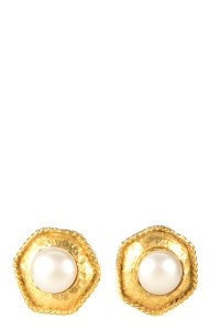 Chanel Chanel Gold And Faux Pearl Earrings