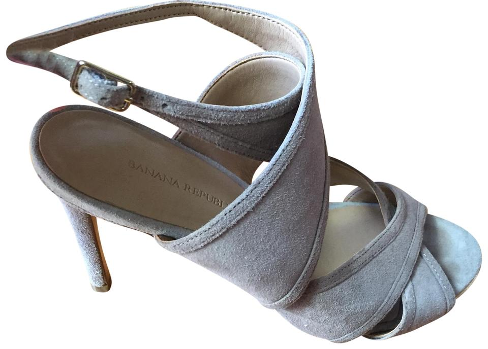 Banana Republic Republic Republic Grey Strappy Style/Wrap Around Pumps 2147b7
