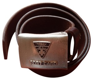 Post Card Brown Leather Belt