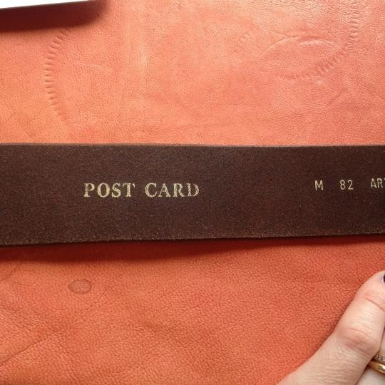 Other Post Card Brown Leather Belt