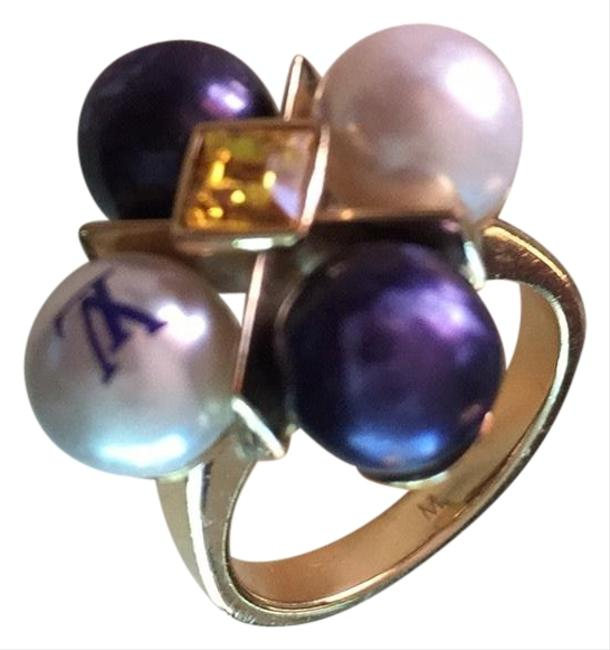 Item - White/Purple/Gold Cry Me A River Sunset Ring