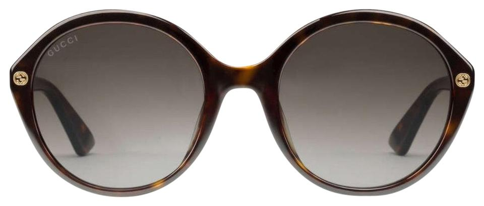 067a69fc32b Gucci Dark Tortoiseshell Frame with Brown Lens Round-frame Acetate ...