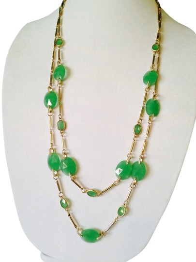 Preload https://item3.tradesy.com/images/neiman-marcus-greengold-nwot-faceted-aventurine-gemstone-and-crystal-link-long-double-strand-necklac-2274592-0-0.jpg?width=440&height=440