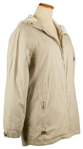 Free Country Hooded Mid-length Tan Beige Jacket