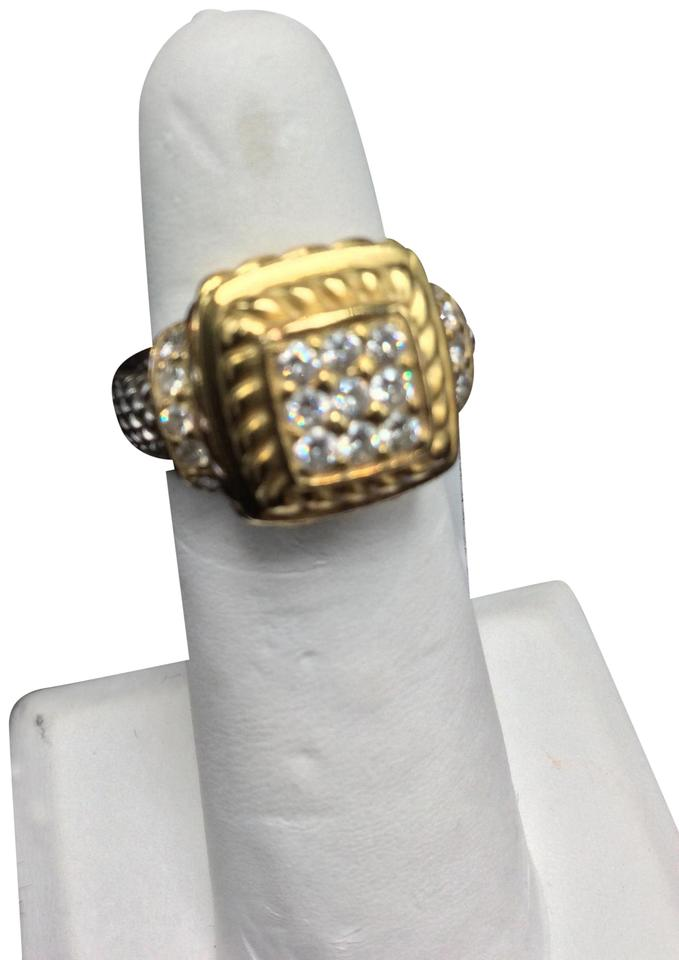 bd2a0440c3aaa Judith Ripka Diamonds Silver Gold With 18k Yellow and .925 Ring