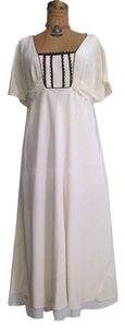 Ann Taylor Casual Wedding Ivory Silk Silk Wedding Dress