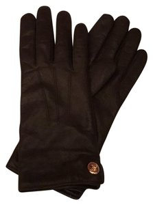 Coach Nwt Coach Brown Iconic Classic Soft Leather Gloves Size 7 Medium