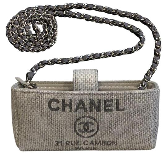 Preload https://img-static.tradesy.com/item/22746538/chanel-wallet-on-chain-clutch-deauville-woc-grey-leather-canvas-cross-body-bag-0-1-540-540.jpg