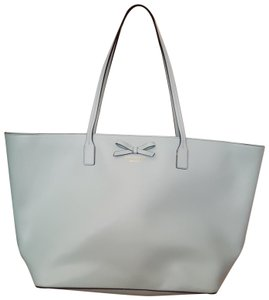 Kate Spade Leather Bow Tote in Light blue