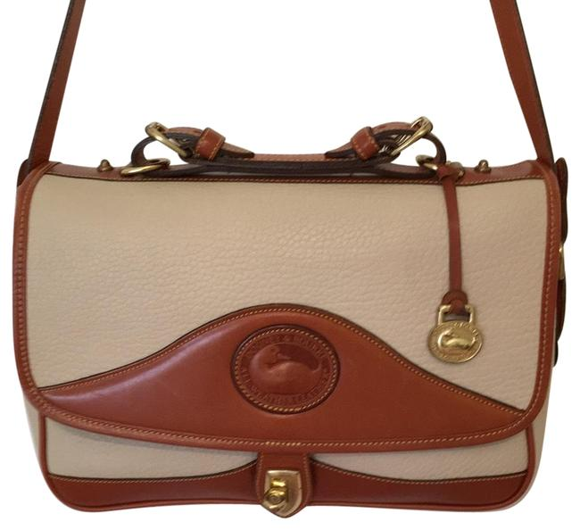 Item - Vintage Usa Made Cream Tan Leather Shoulder Bag