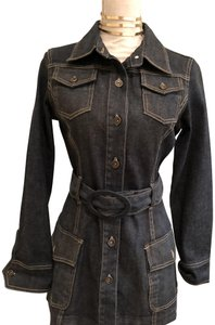Harold Powell Belted Womens Jean Jacket