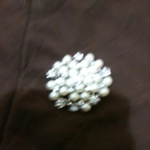 David's Bridal Pearls with Bling Brooch/Pin