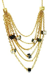 Louis Vuitton Rare Gold-Tone Cascading Gamble Necklace