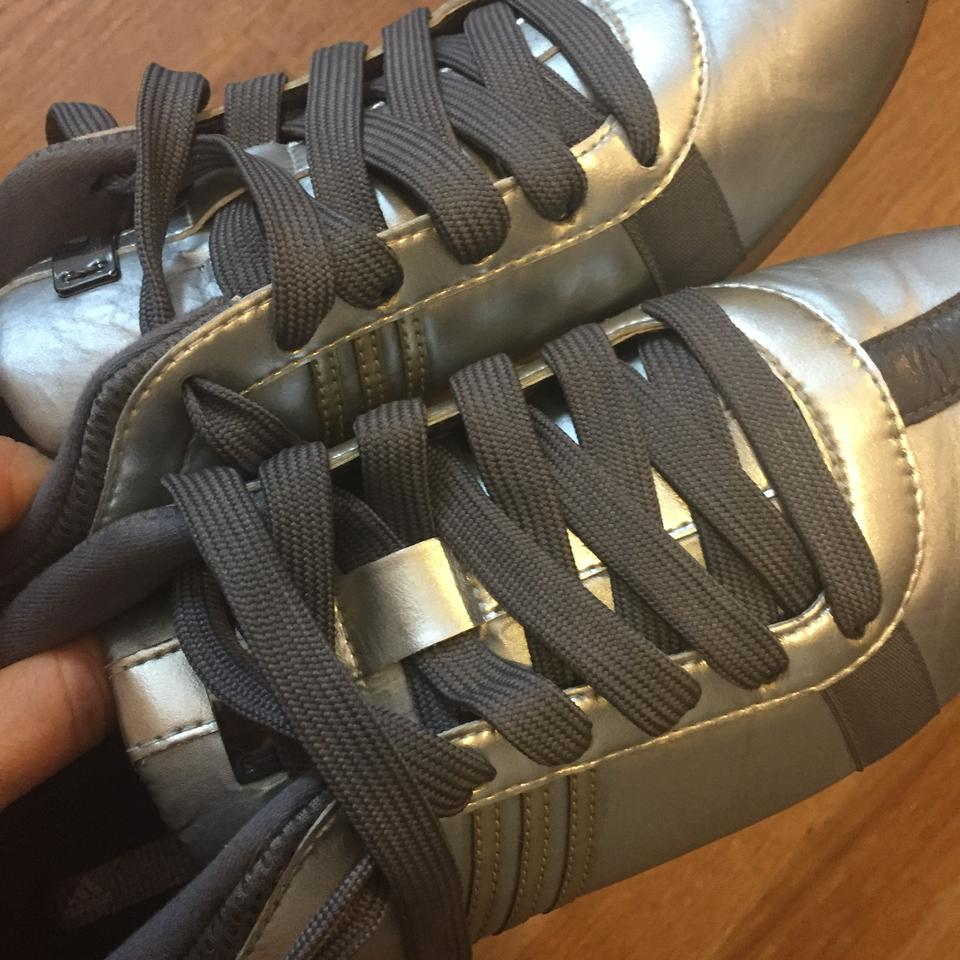 adidas By Stella McCartney Silver Limited Edition Running Sneakers Size US  7.5 Regular (M 832668cfa3ac9