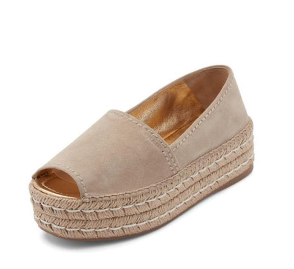 Prada (Neutral) Quarzo (Neutral) Prada Peep Toe Espadrille Platforms 998e2c