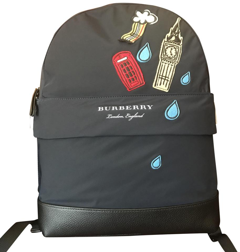 Burberry New Kids Navy Textile Backpack Tradesy