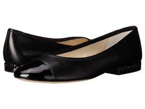 Michael Kors Black patent and genuine leather Flats