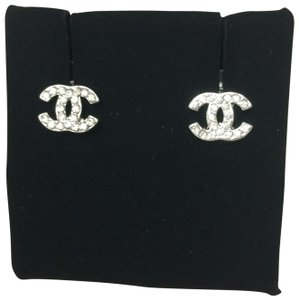 Chanel Chanel Crystal Pierced Earrings