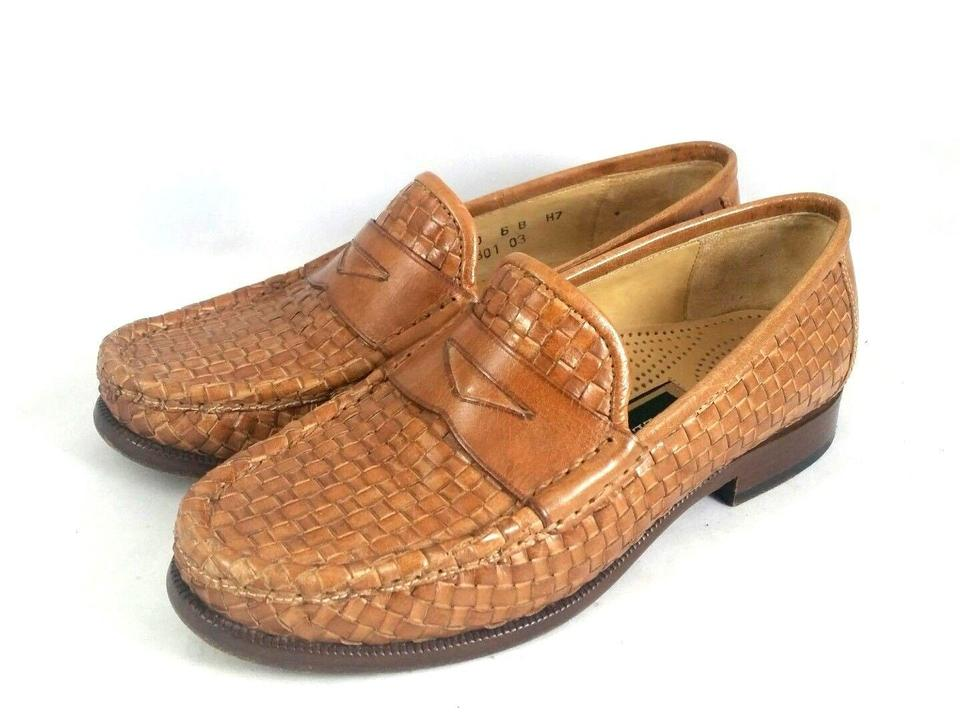 Cole Haan Brown Woven Leather Penny Loafer Slip On F0100 B ...