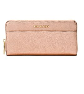 Michael Kors Michael Kors Metallic Embossed-Leather Continental Wallet