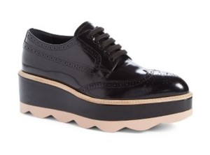 Prada Scalloped Oxford Black/Blush pink Platforms