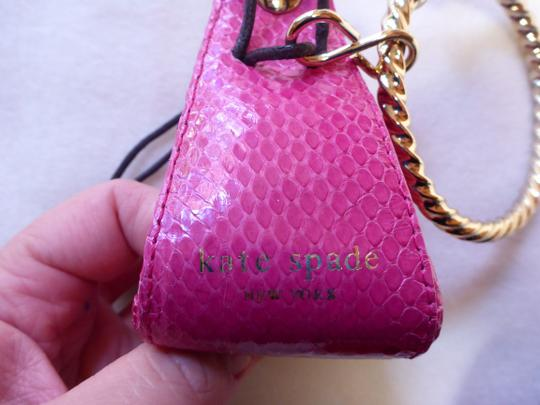 Kate Spade AUTHENTIC EXTREMELY RARE Kate Spade Wristlet Bangle Key Coin Pouch Fuchsia Pink