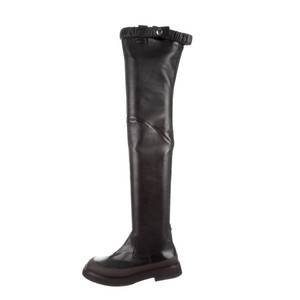 Céline Over The Knee Thigh High Leather Phoebe Philo BLACK/BROWN Boots