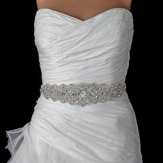Elegance By Carbonneau Crystal Rhinestone Beaded Wedding Dress Belt