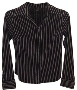 Express Button Down Shirt black with colorfull stripes