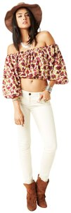 Novella Royale Boho Croptop Floralprint Set Top Wine Rose