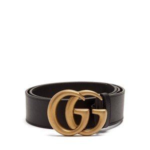 Gucci Size 90/36 GG-logo 4cm leather belt