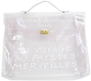 f93cb8d903bd Hermès Kelly Limited Edition Clear 1997 Through White Vinyl Plastic ...
