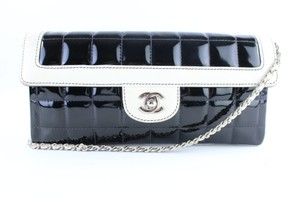 Chanel Wallet On Chain East West Chocolate Bar Classic Flap Two-tone Shoulder Bag