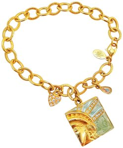 Kirks Folly KIRKS FOLLY LIBERTY FREEDOM STATUE OF LIBERTY CHARM BRACELET