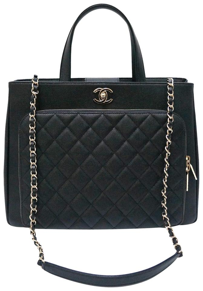 39472b0f6de784 Chanel Shopping Large Business Affinity Black Caviar Leather Tote ...