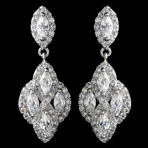 Elegance By Carbonneau Cz Crystal Pear Drop Earrings